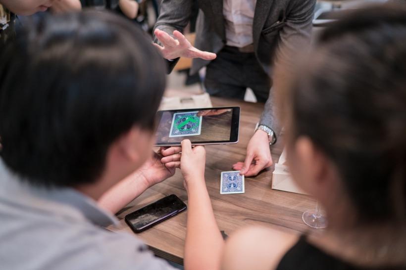Augmented Reality Digital iPad Magician TK Jiang